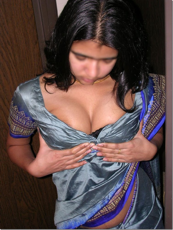 Indian girl removing blouse